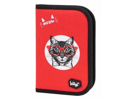 BAAGL Školní penál klasik Kočka