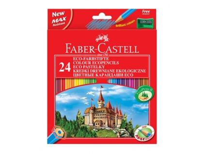 Faber-Castell Pastelky šestihranné, pap.krabička 24ks