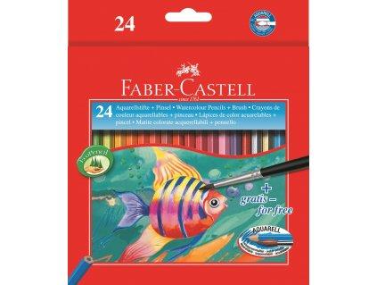 Faber-Castell Pastelky Akvarelové pap.krabička 24ks + štěteček