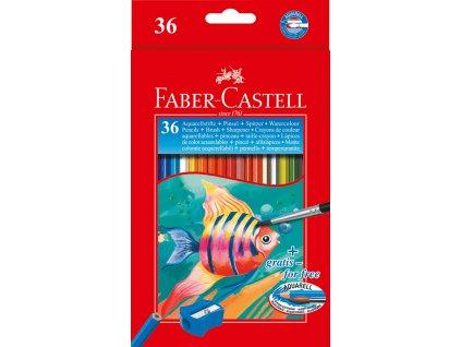 Faber-Castell Pastelky Akvarelové pap.krabička 36ks + štěteček