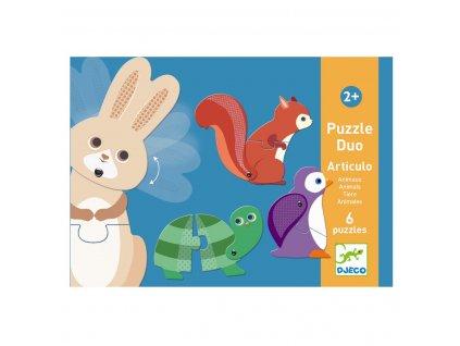 DJECO Duo puzzle - Zvířátka v pohybu