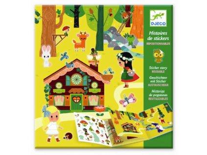 DJECO Samolepková kniha s příběhem - Tajuplný les