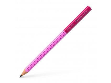 Faber-Castell Grafitová tužka GRIP JUMBO TwoTone B - růžová