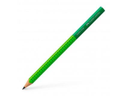 Grafitová tužka GRIP JUMBO TwoTone B (2) - zelená