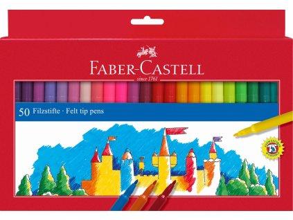 Faber-Castell Popisovače kulaté, pap.krabička 50ks