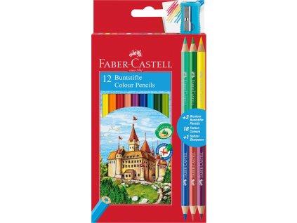 Faber-Castell Pastelky ECO šestihranné pap.krabička 12ks + 3ks