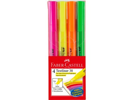 Faber-Castell Zvýrazňovač Textliner 38 superfluorescenční 4ks