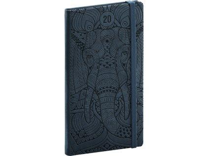 Kapesní diář Vivella Speciál 2020, slon 9 × 15,5 cm