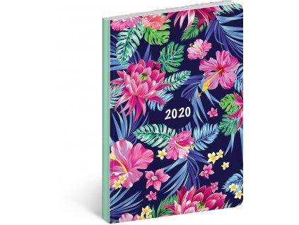 Ultralehký diář Květiny 2020, 11 × 17 cm