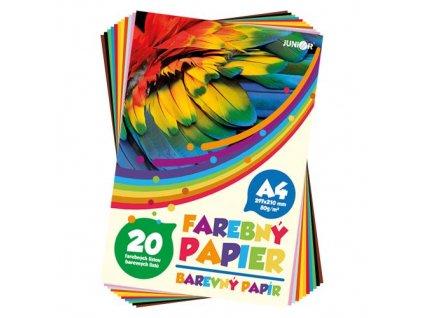 Složky barevných papírů A4 20 listů 80 g