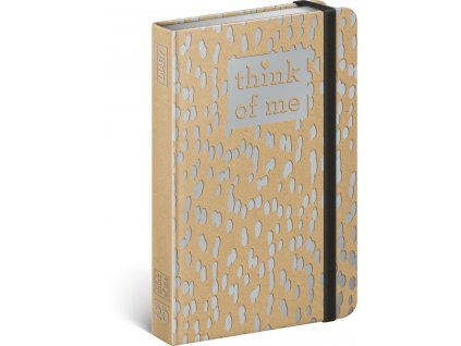 Týdenní diář Craft Kapky – Think of me 2020, 11 × 16 cm