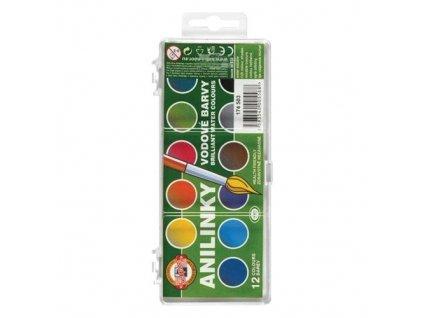 Barvy vodové brilant 12 barev (anilínové)