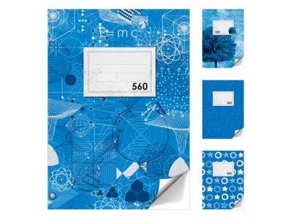 Sešit A5, 60 listů - bez linek 560