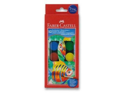 Vodové barvy 24mm, 12 barev