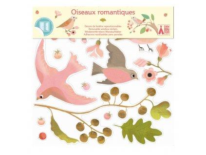Samolepky na okno - Romantičtí ptáčci