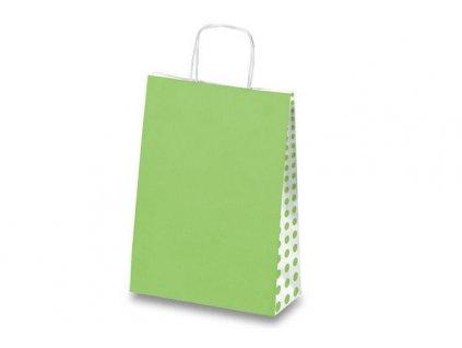 Dárková taška Tinta Unita Dots - Světle zelená
