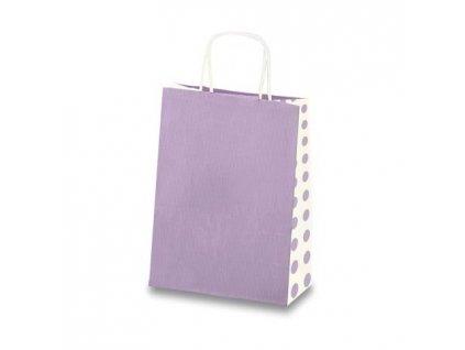 Dárková taška Tinta Unita Dots - Světle fialová