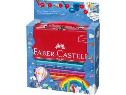 Faber-Castell Pastelky JUMBO GRIP, plechový dárkový kufřík 22ks