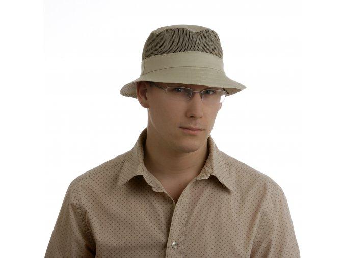 Pánský klobouk z bavlny se síťovinou