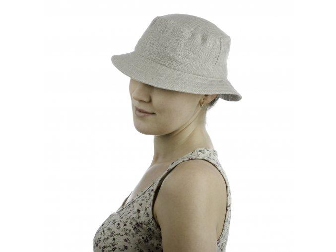 Lněný dámský sportovní klobouk