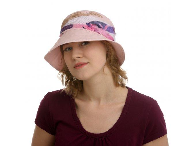 Barevný letní dámský klobouk z bavlny