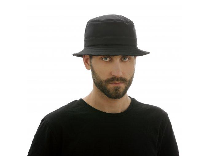 Stylový pánský klobouk zčerného softshellu