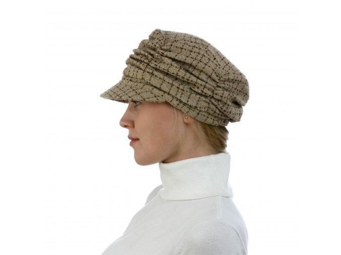 Moderní řasená dámská kšiltovka