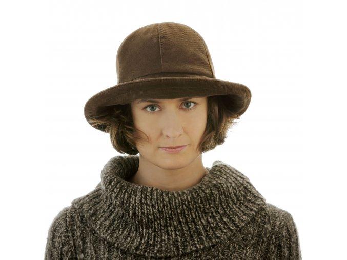 Originální dámský manšestrový klobouk