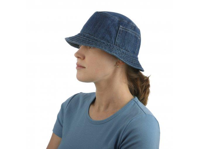 Sportovní klobouk zmodré rifloviny