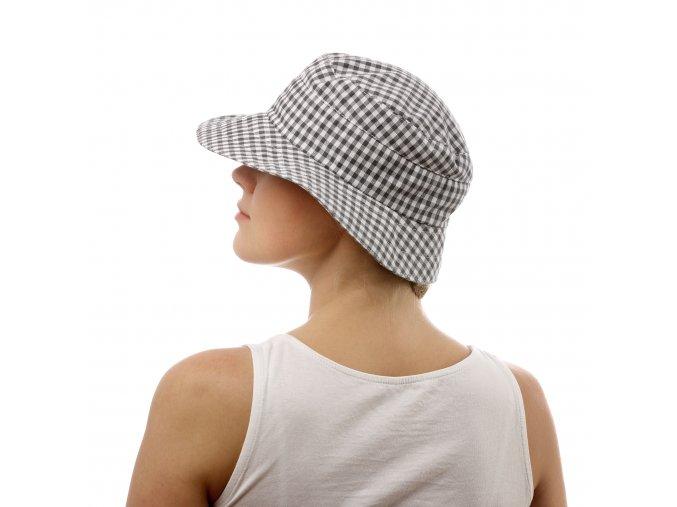 Letní kostkovaný dámský klobouk
