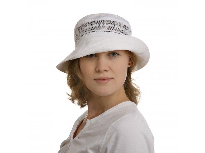 Bavlněný klobouk s jemnou krajkou