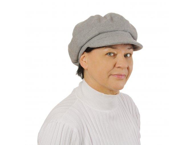 Zimní šedá dámská kšiltovka