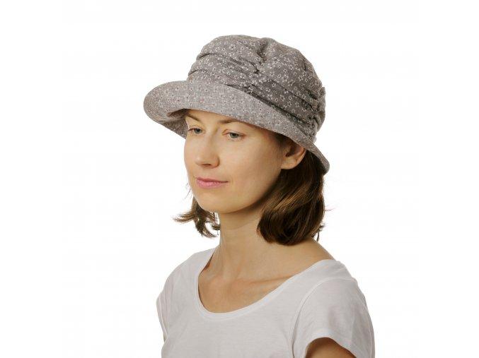 Dámský letní klobouk z bavlněného kreše