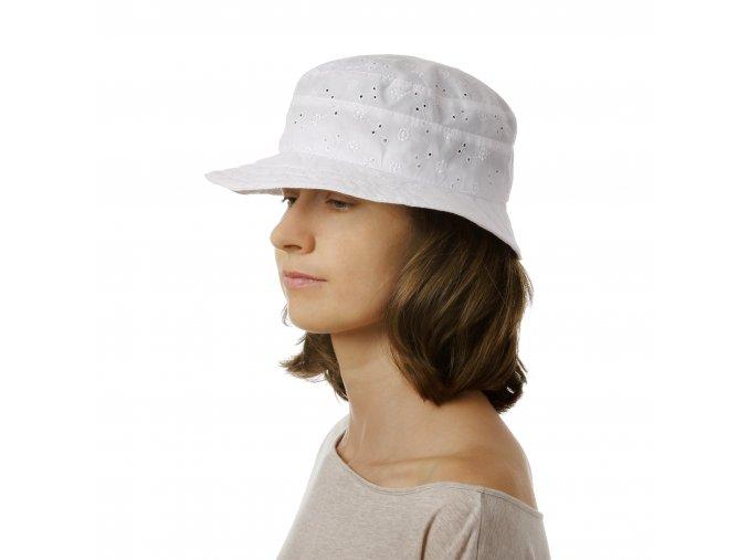 Dámský letní klobouk s vyšívaným vzorem