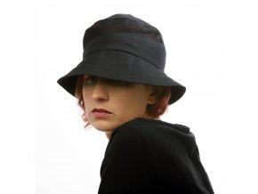 Dámský černý letní klobouk zbavlny