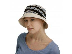Barevný dámský letní klobouk zbavlněného plátna