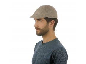 Designová letní pánská čepice z lněného plátna