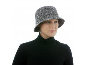 Elegantní černobílý dámský klobouk