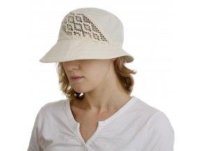 Bavlněný béžový klobouk