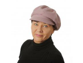 Zimní starorůžová dámská kšiltovka