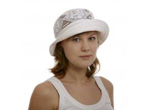 Elegantní dámský klobouk s krajkou