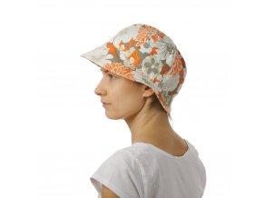 Letní květovaný klobouk