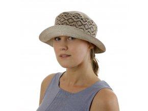 Letní dámský klobouk z přírodního režného odstínu