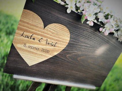 Cedule svatební Kniha hostů srdce1vinětice