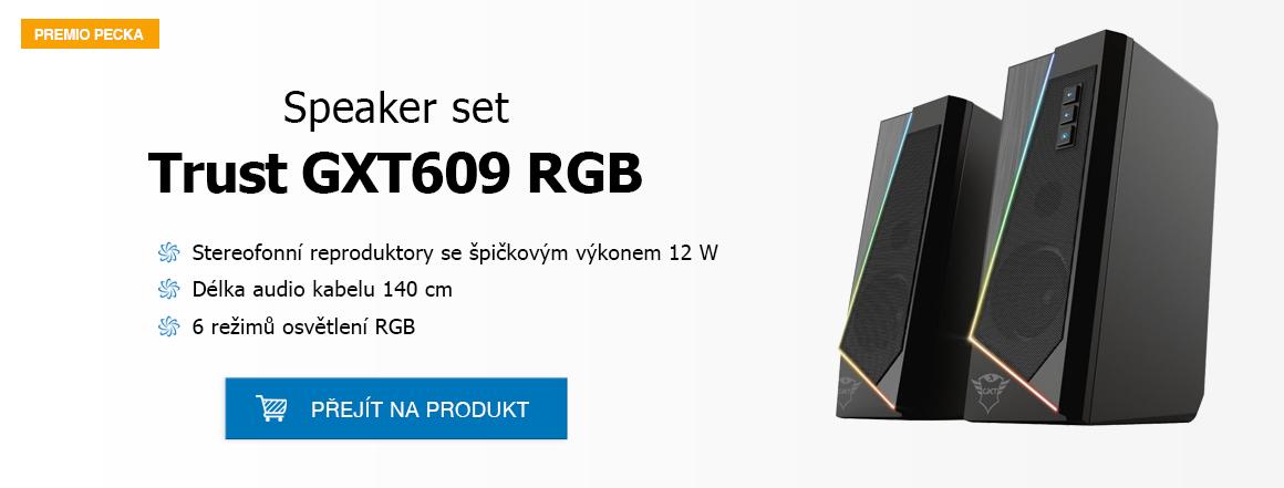 TRUST GXT609 ZOXA RGB LED SPEAKER SET