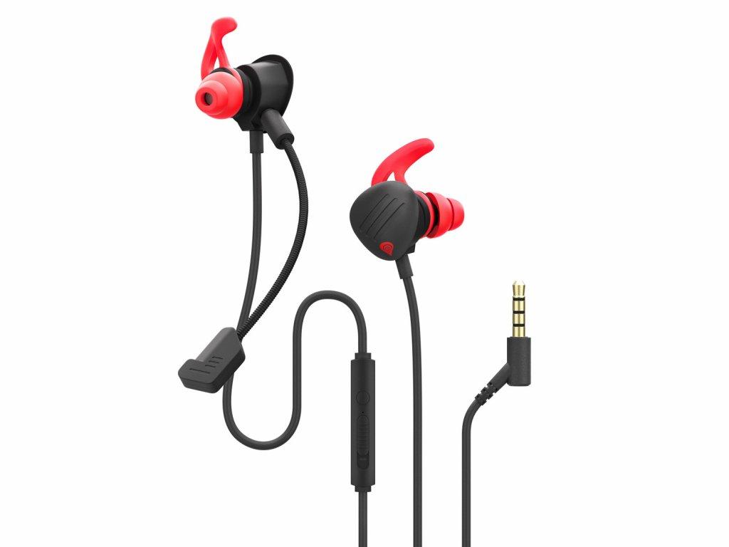 Genesis Oxygen 400 Multiplatformní sluchátka do uší s mikrofonem, PC, PS4, Xbox One, Switch