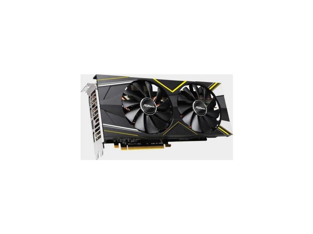 ASROCK vga RX 5500 XT Challenger D 4GB OC (určeno pouze pro hraní her) s AMD Radeon RX5500XT 4GB GDDR6 (3x DPort, 1x HDMI)