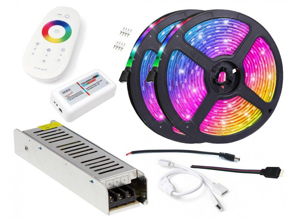 LED pásek - RGB 5050 - 10m - IP20 - SADA na strop