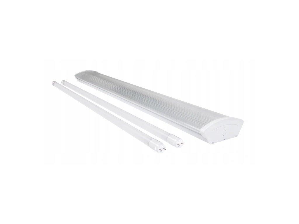 LED trubicové svítidlo T8 PRISMATIC - 2x120cm trubice - studená bílá