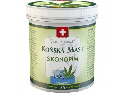 Herbamedicus Koňská mast s konopím - chladivá - 250 ml